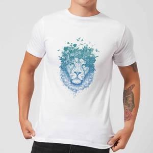 Balazs Solti Lion And Butterflies Men's T-Shirt - White