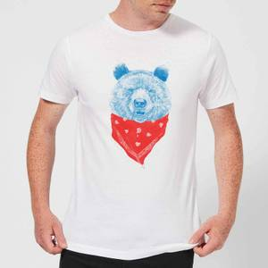 Balazs Solti Bandana Panda Men's T-Shirt - White
