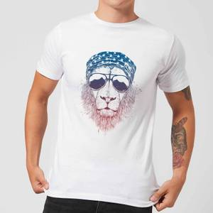 Balazs Solti Bandana Lion Men's T-Shirt - White