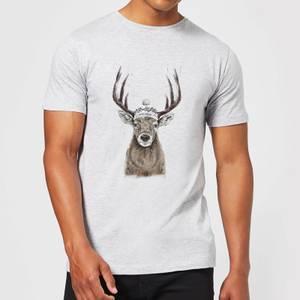 Balazs Solti Winter Deer Men's T-Shirt - Grey