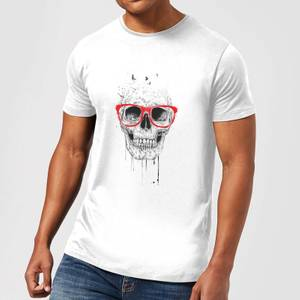 Balazs Solti Skull And Glasses Men's T-Shirt - White
