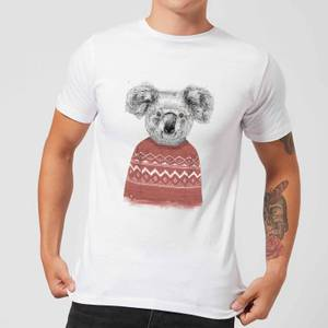 Balazs Solti Koala And Jumper Men's T-Shirt - White