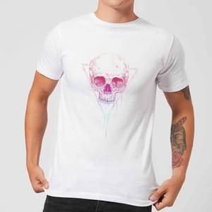 Balazs Solti Colourful Skull Men's T-Shirt - White