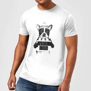 Balazs Solti Winter Is Boring Men's T-Shirt - White