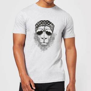 Balazs Solti Bandana Lion Men's T-Shirt - Grey