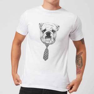 Balazs Solti Suited And Booted Bulldog Men's T-Shirt - White
