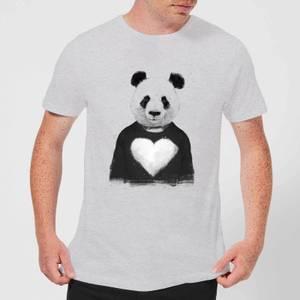 Balazs Solti Panda Love Men's T-Shirt - Grey