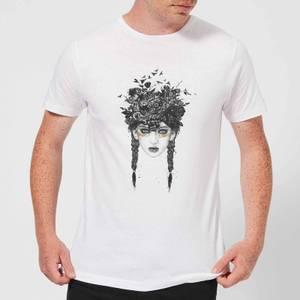 Balazs Solti Native Girl Men's T-Shirt - White