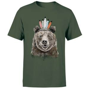 Balazs Solti Native Bear Men's T-Shirt - Forest Green