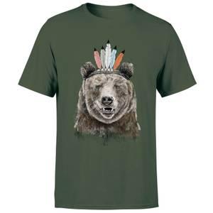 Balazs Solti Native Bear Men's T-Shirt - Forest Green