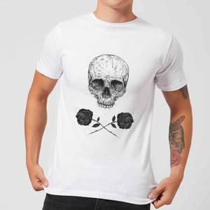 Balazs Solti Skull And Roses Men's T-Shirt - White