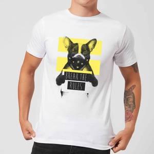 Balazs Solti Break The Rules Men's T-Shirt - White