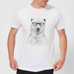 Balazs Solti Polar Bear And Glasses Men's T-Shirt - White