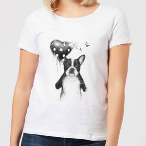 Balazs Solti Bulldog And Balloon Women's T-Shirt - White