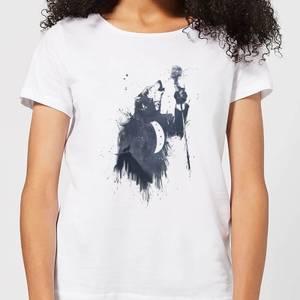 Balazs Solti Singing Wolf Women's T-Shirt - White