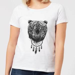Balazs Solti Dreamcatcher Bear Women's T-Shirt - White