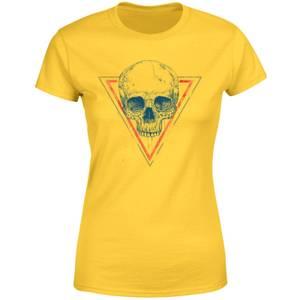 Balazs Solti Skull Women's T-Shirt - Yellow