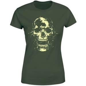 Balazs Solti Skull Women's T-Shirt - Forest Green