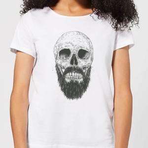 Balazs Solti Bearded Skull Women's T-Shirt - White