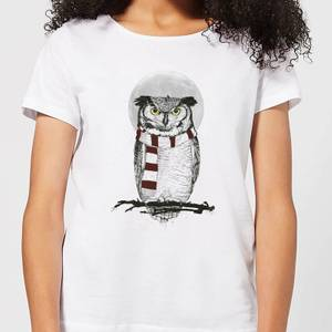 Balazs Solti Owl And Moon Women's T-Shirt - White