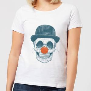 Balazs Solti Red Nosed Skull Women's T-Shirt - White
