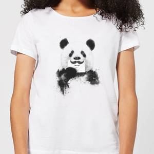 Balazs Solti Moustache And Panda Women's T-Shirt - White