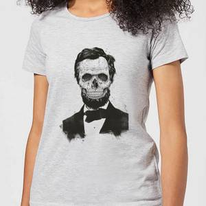 Balazs Solti Suited And Booted Skull Women's T-Shirt - Grey