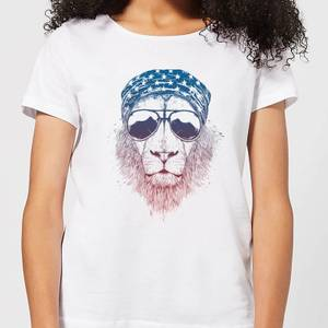 Balazs Solti Bandana Lion Women's T-Shirt - White
