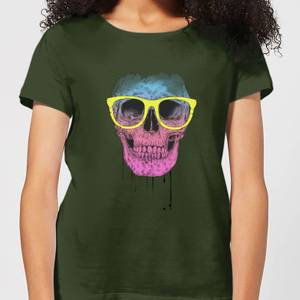 Balazs Solti Skull And Glasses Women's T-Shirt - Forest Green