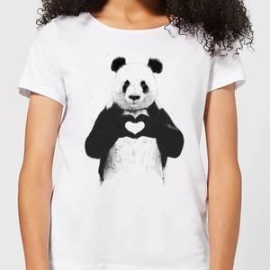 Balazs Solti Panda Love Women's T-Shirt - White