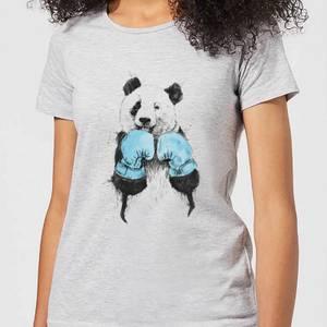 Balazs Solti Boxing Panda Women's T-Shirt - Grey