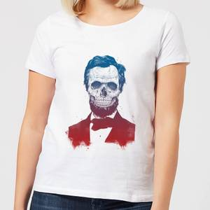 Balazs Solti Suited And Booted Skull Women's T-Shirt - White