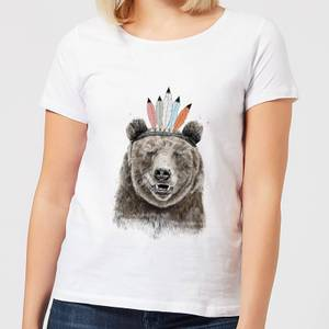 Balazs Solti Native Bear Women's T-Shirt - White