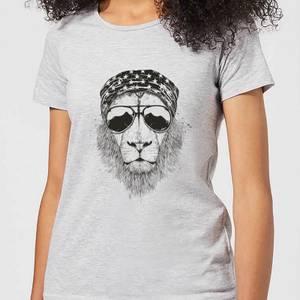 Balazs Solti Bandana Lion Women's T-Shirt - Grey