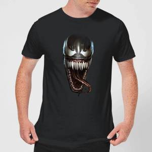 Venom Face Photographic Men's T-Shirt - Black