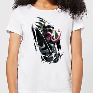 Venom Chest Burst Women's T-Shirt - White