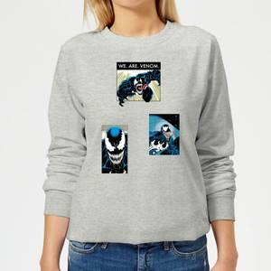 Venom Collage Damen Pullover - Grau