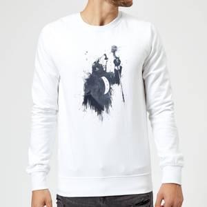 Balazs Solti Singing Wolf Sweatshirt - White
