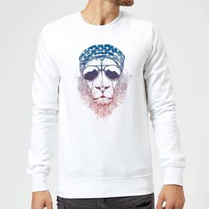 Balazs Solti Bandana Lion Sweatshirt - White