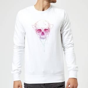 Balazs Solti Colourful Skull Sweatshirt - White