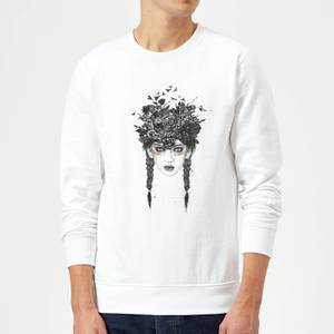 Balazs Solti Native Girl Sweatshirt - White