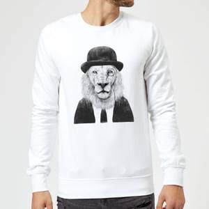 Balazs Solti Monocle Lion Sweatshirt - White