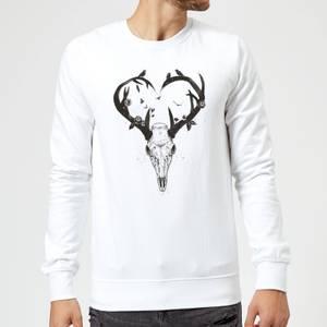 Balazs Solti Antlers Sweatshirt - White