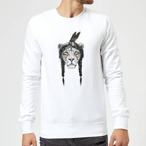 Balazs Solti Native Lion Sweatshirt - White