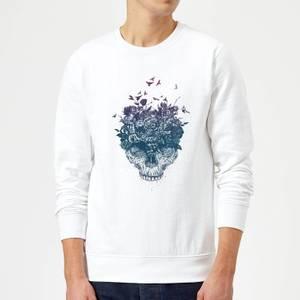 Balazs Solti Skulls And Flowers Sweatshirt - White
