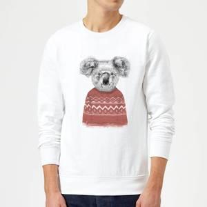 Balazs Solti Koala And Jumper Sweatshirt - White