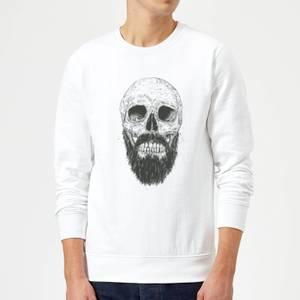 Balazs Solti Bearded Skull Sweatshirt - White