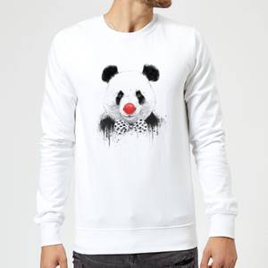 Balazs Solti Red Nosed Panda Sweatshirt - White