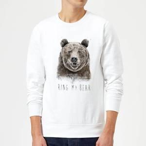 Balazs Solti Ring My Bear Sweatshirt - White