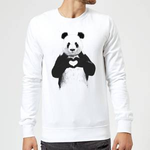 Balazs Solti Panda Love Sweatshirt - White